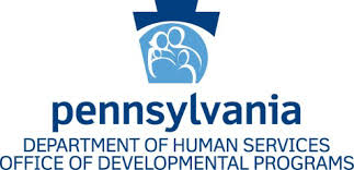 The PA DHS logo containing a keystone with a family in it. The text below the logo reads The Office of Developmental Programs