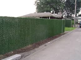 how to cover a chain link fence