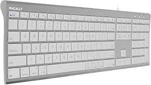 Macally Ultra Slim USB Wired Computer Keyboard ... - Amazon.com