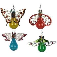 solar powered integrated led erfly moth ladybug and dragonfly outdoor patio lights