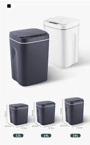 16L USB şarj akıllı çöp tenekesi otomatik sensörlü çöp kutusu akıllı sensör  şarj edilebilir elektrikli çöp kutusu çöp kovası çöp kovası Waste Bins