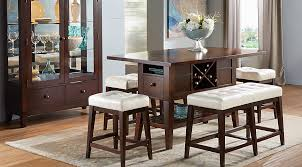 Julian Place Chocolate Vanilla 5 Pc Counter Height Dining Room  Dining  Room Sets Dark Wood
