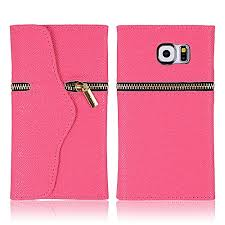 Hichina Pink Magnetic Flip <b>PU Leather Cover Case</b> Zipper Wallet ...