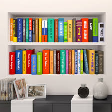 ... Creative Bookcase Bookshelf Wall Stickers Kids Room Nursery Study Room  Home Decor Toddler ...