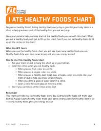 Fillable Online I Ate Healthy Foods Chart Fax Email Print