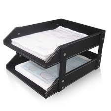 desk office file document paper. Ever Perfect Double Layer PU Leather File Document Tray Shelf Storage Box Desk Organizer-in Drawers From Home \u0026 Garden On Aliexpress.com | Alibaba Office Paper