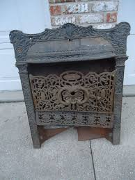 cast iron fireplace cover surround insert vintage antique ornate