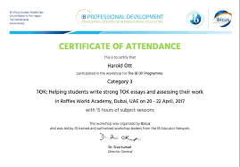 training recent hal ott professional profile theory of knowledge essay writing workshop 2017