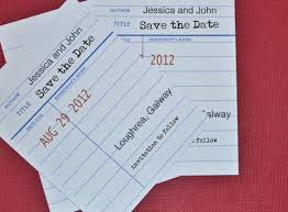 Print Save The Date Cards Library Style Save The Date Diy Onefabday Com