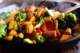 Asian vegetarian stir fry