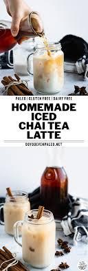 homemade iced chai tea latte recipe