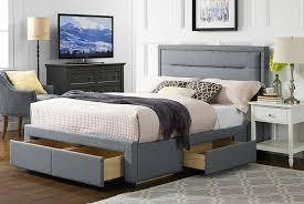 sana pearl grey fabric 4 drawer storage bed w optional mattress