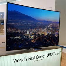 samsung tv 65 curved. side profile, samsung\u0027s 65\u2033 curved 4k tv samsung tv 65