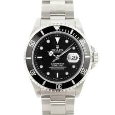 luxury watches overstock com the best prices on designer mens pre owned rolex men s submariner stainless steel black dial watch