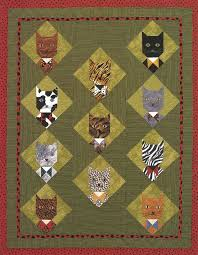 126 best Quilting: Cats images on Pinterest | Embroidery, DIY and ... & Tuxedo Cats, in: Polka-Dot Kids' Quilts by Jean Van Bockel Adamdwight.com