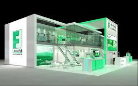Electronic Interior Design Future Electronics Exhibition Stand Render Creative