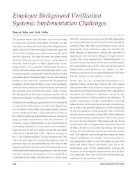Employee Background Verification Systems: Implementation Challenges