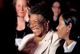 a angelou academy of achievement a angelou enjoys a speaker s joke at the 2000 annual conference of the children s defense fund