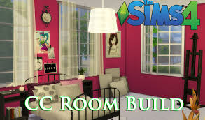 Sims Bedroom The Sims 4 Cc House Build Episode 4 Teen Bedroom Youtube