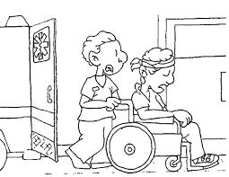 Kleurennu Rolstoel Uit Ambulance Kleurplaten