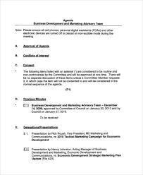 Business Agenda 39 Agenda Examples