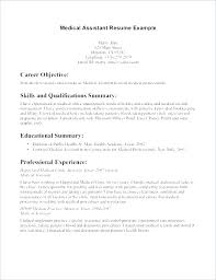 Medical Assistant Resumes And Cover Letters Mesmerizing Sample Cover Letter Medical Assistant Resume For Assistants With No