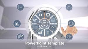 Slide Circle Technology Circle Interface Powerpoint Template Slidesbase