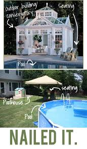 pool patio decorating ideas. Small Patio Decorating Ideas: A Humorous Graphic Comparing A Gorgeous Pool  House With Small Patio Decorating Ideas