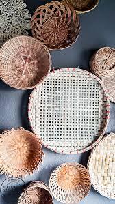create vintage basket wall art