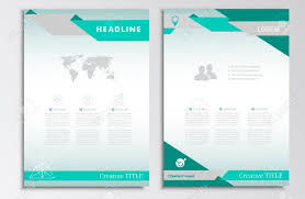 Vector Brochure Template A4 Format Layout Home Page And More