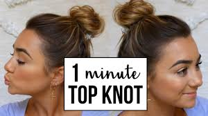 Top Knot Hair Style easy top knot bun for fine thin hair youtube 2694 by wearticles.com