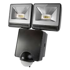 timeguard led twin floodlight with pir sensor black