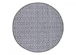round rug 80 cm koster black