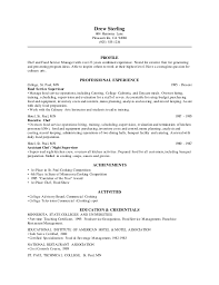Chef Cv Template Food Service Supervisor Chef Cv Template