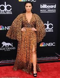 Demi Lovato Billboard Chart Billboard Awards Demi Lovato Stuns In Plunging Leopard