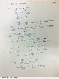 in series are having the same physical dimensions we can derive a simple equation for the effective coefficient of thermal conductivity as shown below