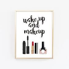 makeup printable wall art girly wall
