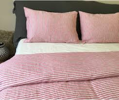striped duvet cover handmade in natural linen superior custom linens