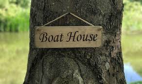boat house 10 00 rope hanging signs classic austin sloan handmade wooden signs plaques and gift ideas