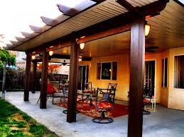 standing open lattice alumawood patio cover