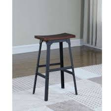 rustic bar stools. Matte Black Industrial Style Backless Bar Stool Rustic Stools