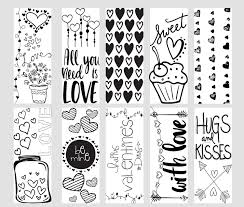 free printable valentines coloring pages bookmarks 5d free for children