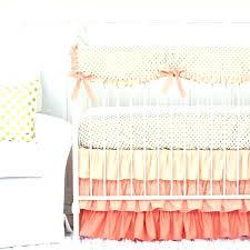 ruffled crib bedding pastel crib bedding sets c and gold dot ruffle crib bedding set pastel