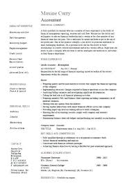 Sample Accounting Resume No Experience Sample Accountant Resumes