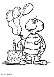 Disegni Di Compleanno Da Stampare E Colorare Gratis Portale Bambini