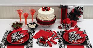 red and silver table decorations. black and silver table decoration ideas | red solid color party supplies, free shipping offer decorations e