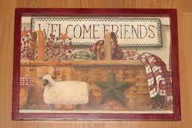primitive framed wall art beautiful primitive country wel e friends framed wall decor on primitive framed wall art with primitive framed wall art beautiful primitive country wel e friends
