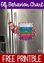 Diy Gifts Elf On The Shelf Behavior Chart Printable Easy