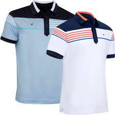 Details About Callaway Golf 2019 Mens Stripe Chest Block Ribbed Opti Dri Golf Polo Shirt