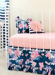 solid navy blue crib bedding set fl baby girl c and